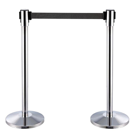 Stanchion Chrome Retractable