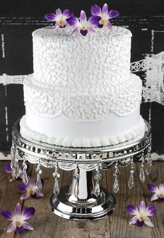 Cake Stand, w/Crystals