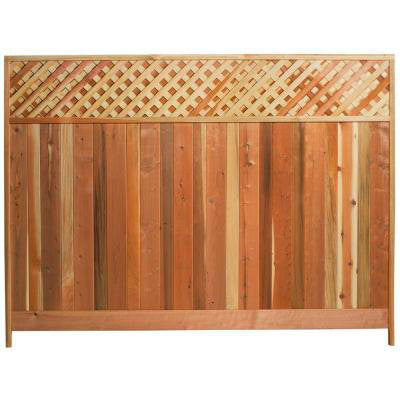 Redwood, Fencing 8'Wx6'H