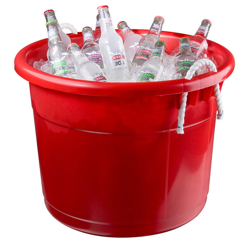 Plastic Beverage Tub Red