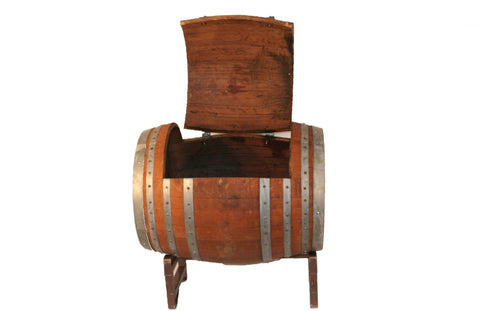 Rustic Barrel Ice Chest