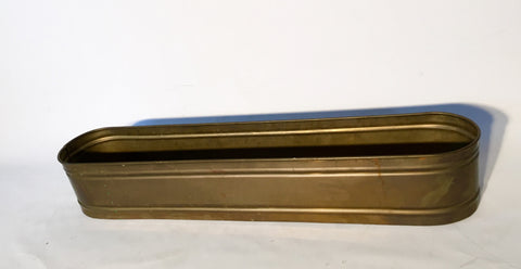 "Slim Tub, Brass, 38""Lx7""Wx6""D"