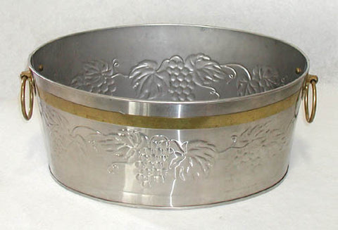 Silver & Brass Beverage Tub