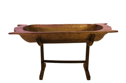 Wood Trough on Stand