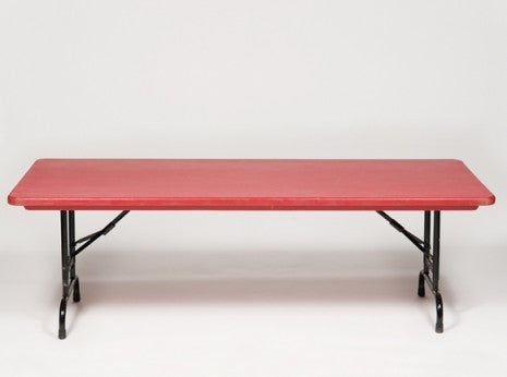 Childrens Table, Red 6'x30""