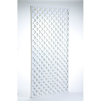 Screen, White Wood Lattice 6