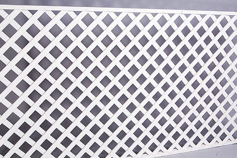 Screen, White Wood Lattice 4
