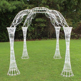White Wicker Gazebo
