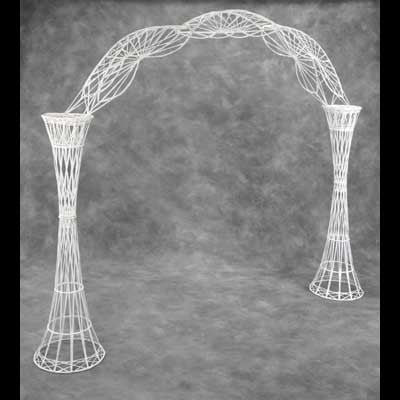 White Wicker Arch