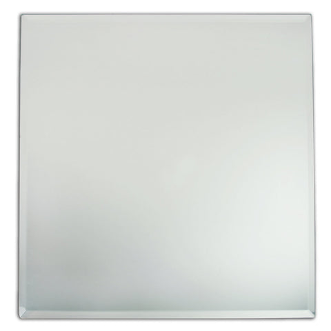 "12"" Beveled Square Mirror"