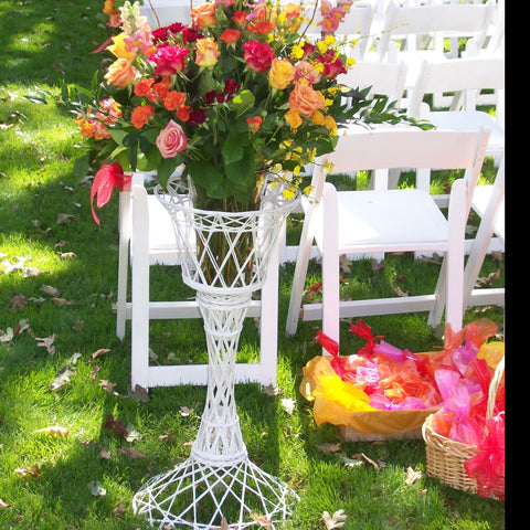 "30"" Wicker Plant Stand Set"