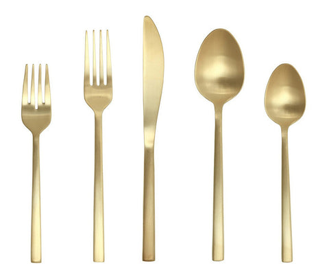 Arezzo Brushed Gold Flatware