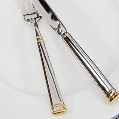 Bistro w/ Gold Accent Flatware