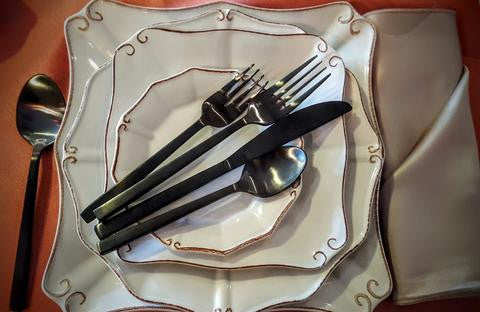 Arezzo Brushed Black Flatware