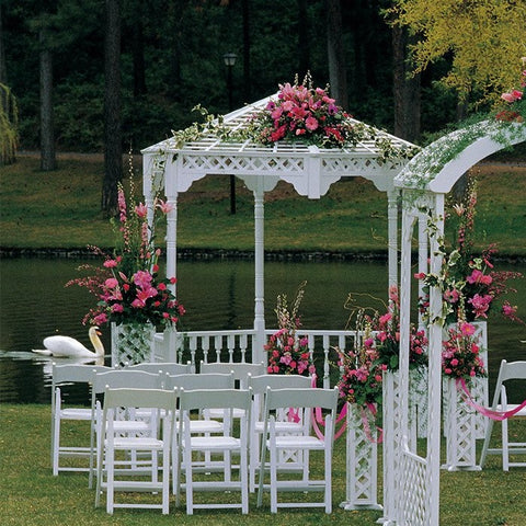 White Wood Gazebo