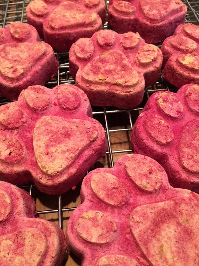 dog treats with goat kefir & red beets