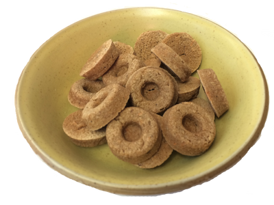 salmon dog treats with goat kefir