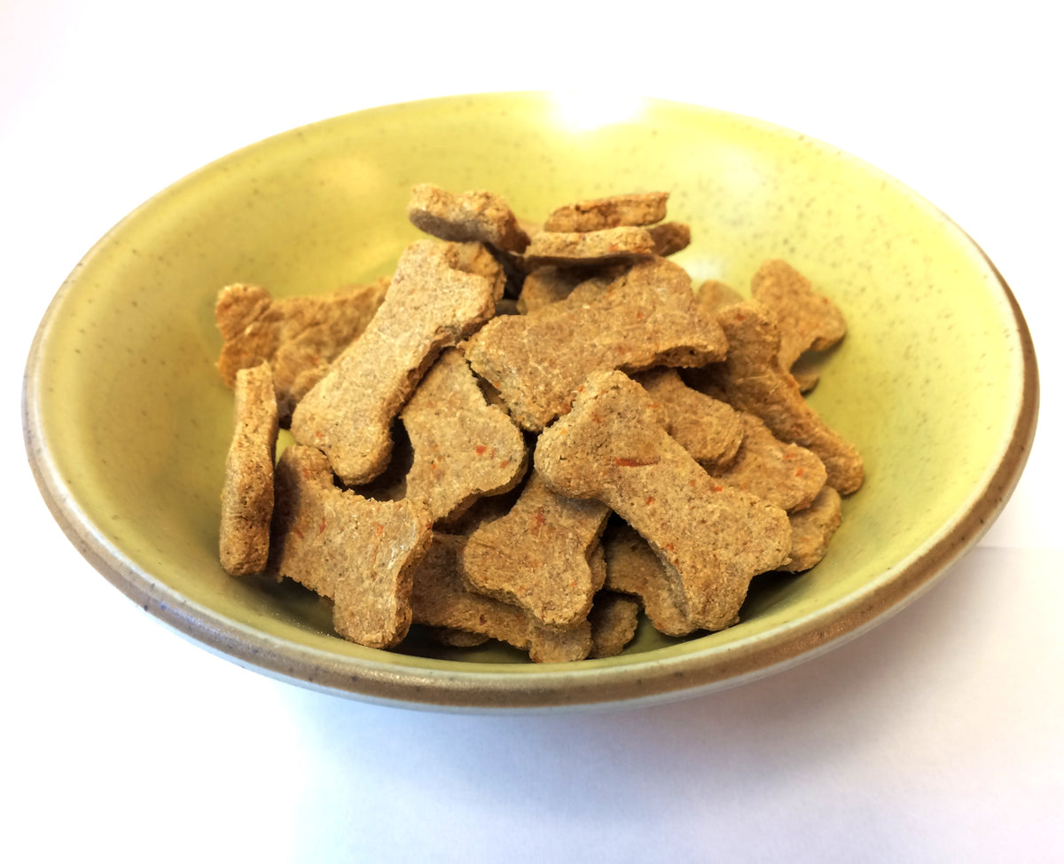 salmon dog treats with carrots & oatmeal