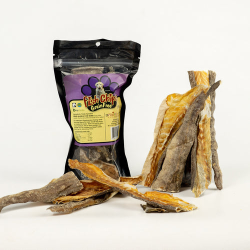 Wild Alaska Cod Skins dog & cat treats.