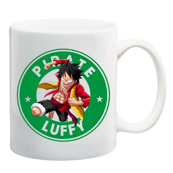 One Piece Luffy Anime Manga Starbucks Inspired 11oz Ceramic Mug