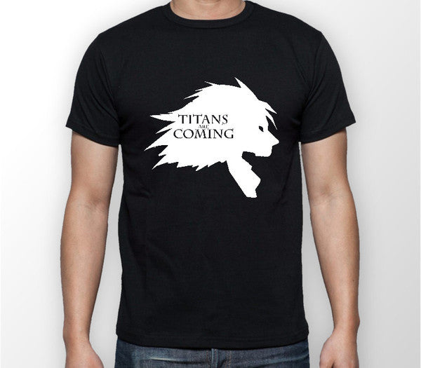 Attack on Titan Shingeki No Kyojin Titans Are Coming Anime Manga Unisex Tshirt