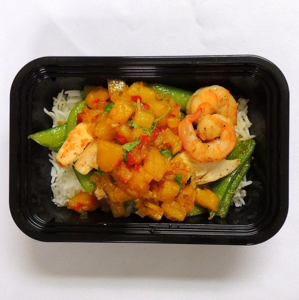 MacroNu Chicken Shrimp Pineapple Chutney Paleo Gluten Free Home Delivery
