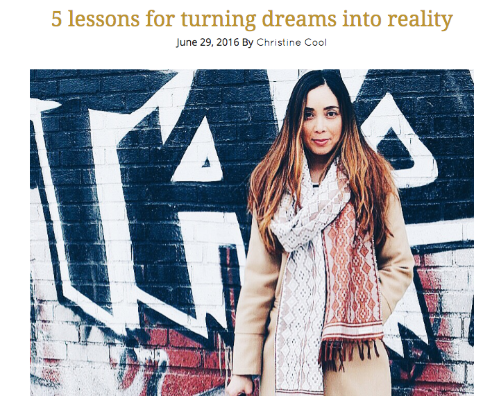 5 lessons on turning your dreams into reality--guest blog with the Well Studio