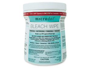 Microdot's® Bleach (sodium hypochlorite) saturated wipes
