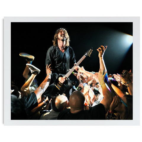 Dave Grohl of Foo Fighters with crowd  Gallery Art Print