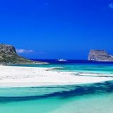 Beautiful beach image in Crete