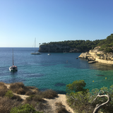 Typical Mallorca beach cove with clear blue waters