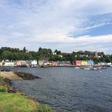 Picturesque view of the fishing port of Tobermory on the Isle of Mull