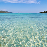 Zadar beach showing clear turquoise waters