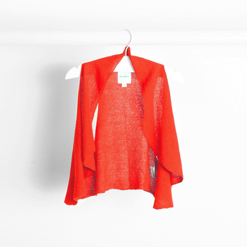 Hanging image of bright orange flutter gilet