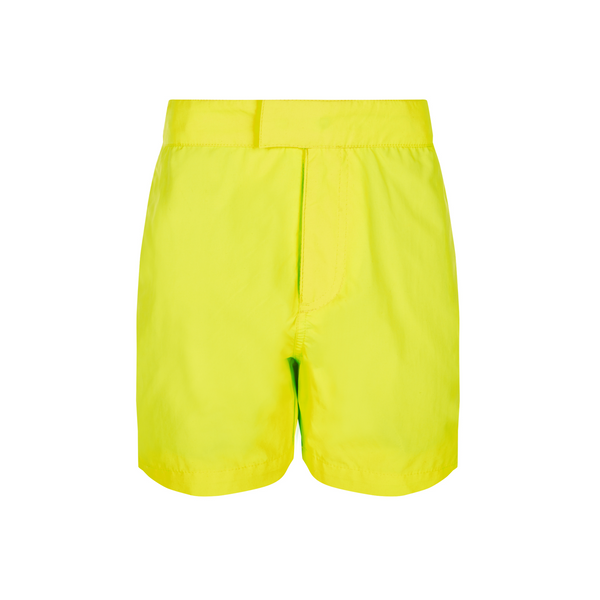 Classically simple yet super bright and stylish, funky neon yellow tailored swim shorts in quick-drying UPF50+ premium fabric.
