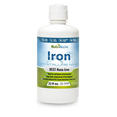 NutriNoche Pure Crystalline Liquid Iron Supplement - 30 ppm - NutriNoche