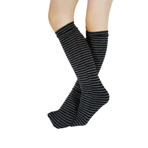 Grey+Navy Mini Stripe Socks