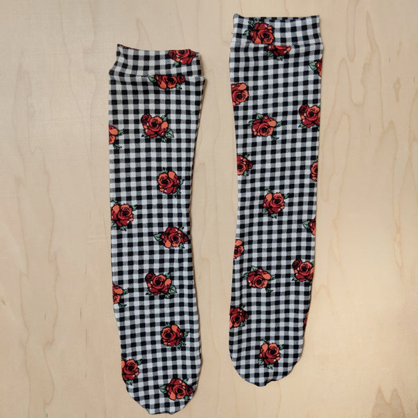 Gingham Roses Socks