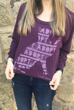 Load image into Gallery viewer, Brindle Market | Adopt a Cat Raglan Sweatshirt