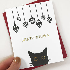 Santa Knows Card