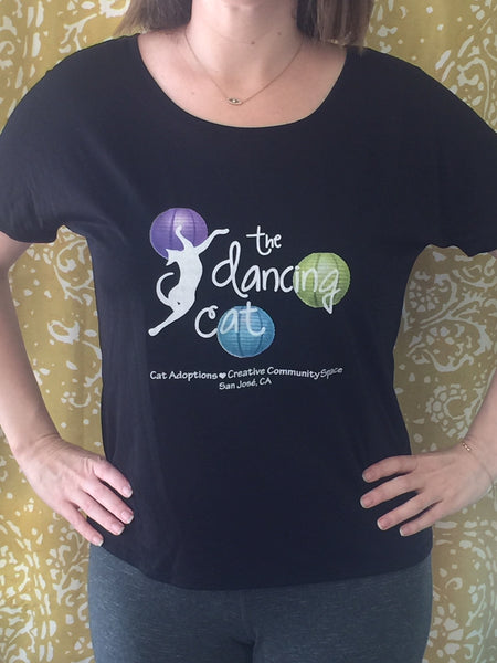 The Dancing Cat - Women's Slouchy Tee