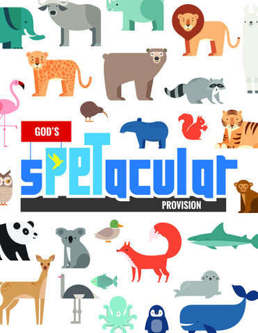 sPETacular!! God's Provision! - Full Lesson Elements and Art Work Only (videos sold separately)
