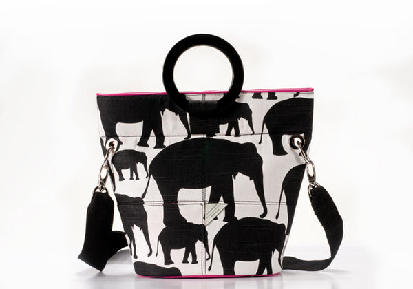 Elephant Print Bucket Bag