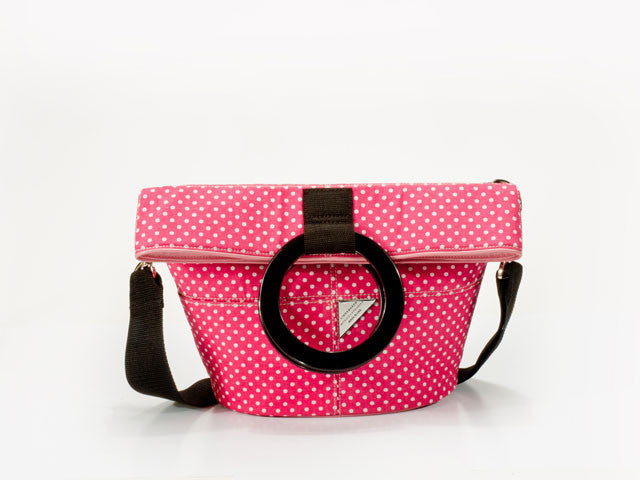 Pink and White Dot Bucket Bag