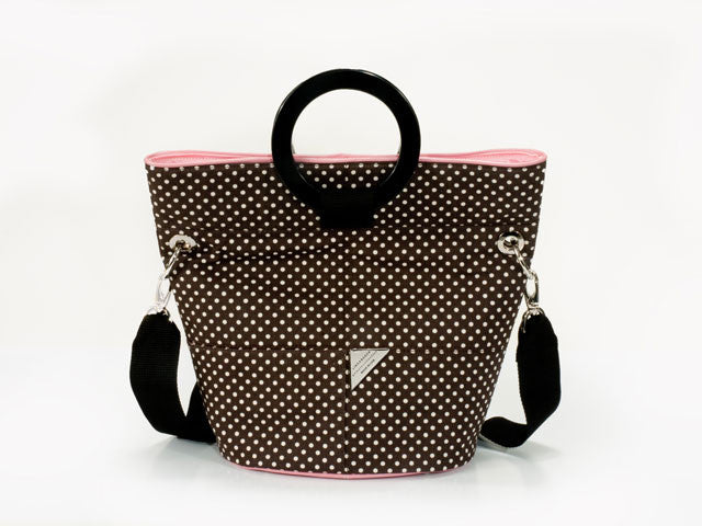 SAMPLE SALE -Brown with White Dot Bucket Bag