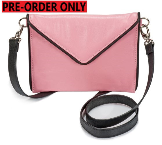 PRE ORDER ONLY-SMALL ENVELOPE BAG ROSE PINK/BLACK