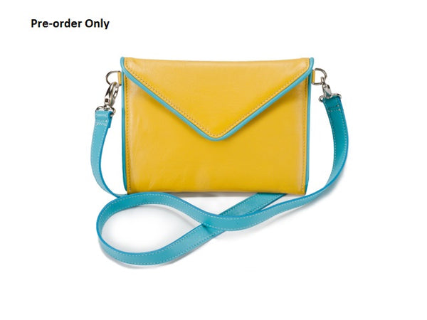 SMALL ENVELOPE BAG YELLOW/AQUA