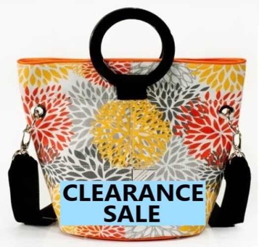CLEARANCE SALE-Citrus Print Bucket Bag