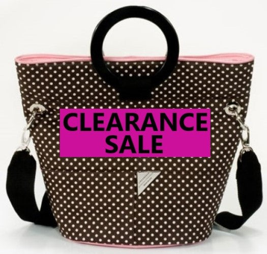 CLEARANCE SALE -Brown with White Dot Bucket Bag