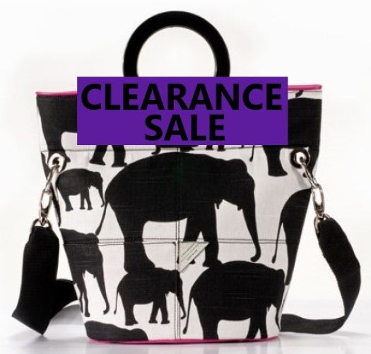 CLEARANCE SALE-Elephant Print Bucket Bag and Sample Bag